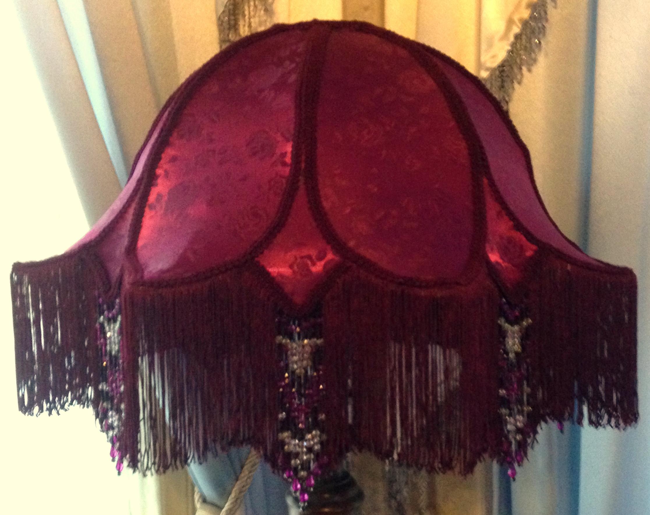 Enchanting Victorian Lampshades Large, Victorian Lamp Shade Beaded Fringe